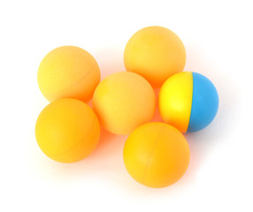 yellow spheres on a white background