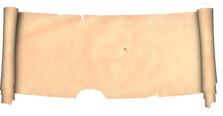 Scroll of parchment. Isolated on a white background.