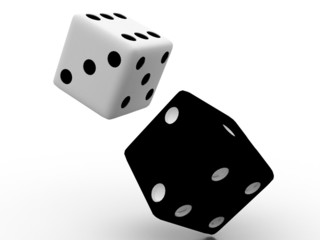 The bones( Dice) in the 3-d visualization