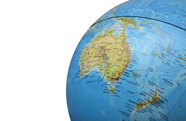 part of globe isolated on white background