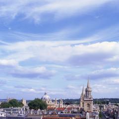 Oxford city skyline. England