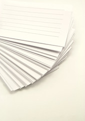 notepads on white background