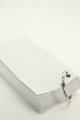 book of notepad with ring binder on white background
