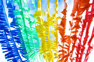 Colorful Plastic Strip Create by Recycle Concept