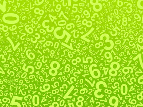 Fond vert - Numéros - Mathématiques