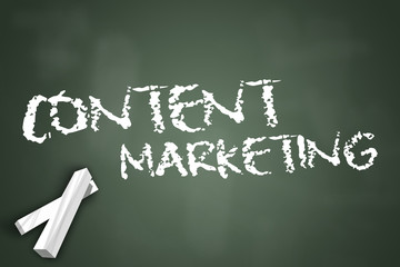 "Chalkboard ""Content Marketing"""
