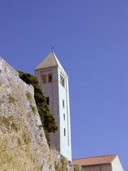 One of yje churches of Rab in Croatia