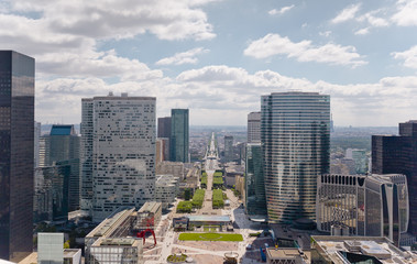 View of Paris from Grande Arch La Defense