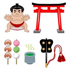 相撲/鳥居/日本茶
