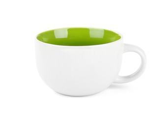 Empty green mug