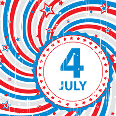 abstract background retro on July 4
