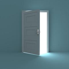 Open door to white light