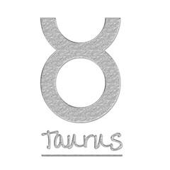 Glitter Taurus Sign