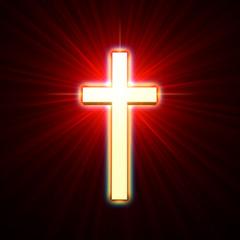 Fototapete - golden cross
