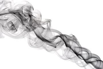 black smoke on the white background