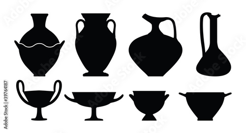 Ancient Greek Vase Forms Stock Image And Royalty Free Vector Files