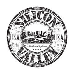 Silicon Valley grunge rubber stamp