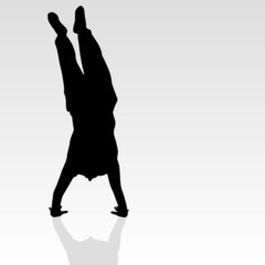 handstand black silhouette