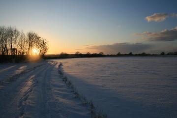 Coucher de soleil Normand hivernal