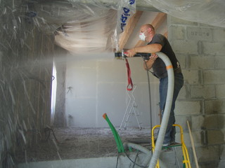 Obraz isolation écologique - ouate de cellulose - fototapety do salonu