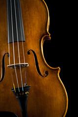 violin on black