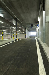 new underground parking, exit