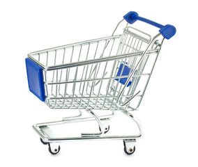 Single metal shopping cart