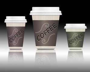 Coffee containers.