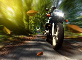 Fototapete - Speeding Motorcycle