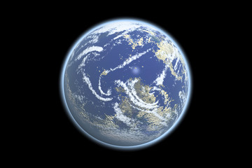 Earth Model with black