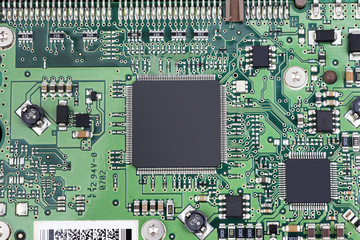 Close up of coumputer board