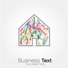 logo maison alphabet couleur