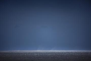 Spoed Foto op Canvas Nachtblauw Horizont