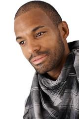 Portrait of goodlooking Afro-American man