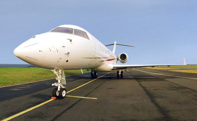 Luxury Private Jet Plane -  Side view