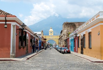 Volcano Pacaya from Antigua