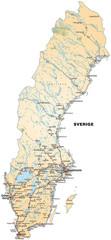 Schwedenkarte als Inselkarte