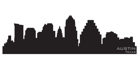 Fototapete - Austin, Texas skyline. Detailed vector silhouette