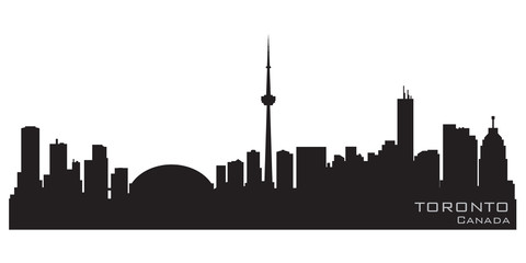 Wall Mural - Toronto Canada skyline. Detailed vector silhouette