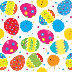 vector pattern easter eggs