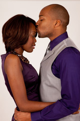 Black couple in romantic mood