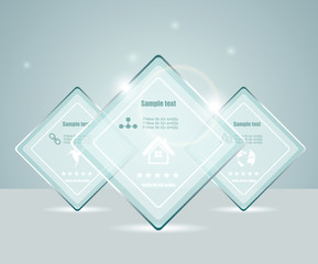 Eps10 glass transparent web box
