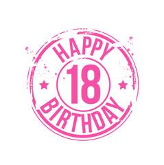 timbre anniversaire 18 ans