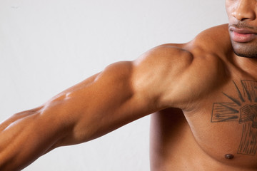 Muscular male arm