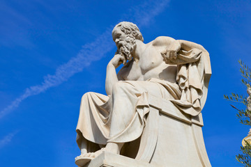 Wall Mural - statue of Socrates from the Academy of Athens,Greece