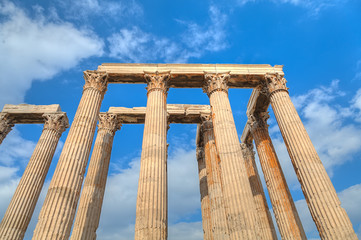 Fototapete - ancient Temple of Olympian Zeus , Athens, Greece