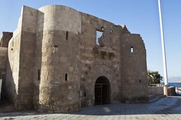 Facade of the Aqaba Fort - Jordan