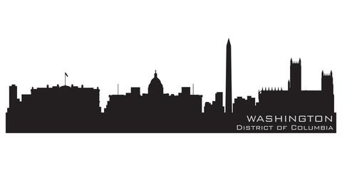Washington, District of Columbia skyline. Detailed vector silhou