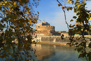 Castel SantAngelo by the River Tiber Rome Italy