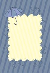 frame with umbrella